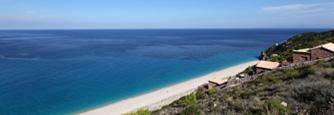 Lefkas Agios Nikitas met uitzicht op zee en het strand
